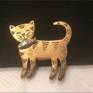 Vintage LIA (Sofia) Figural Cat Brooch Or Pin